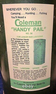 1930's Vintage Coleman Handy Pail No. 36 Fits Models 242, A, B, C, 247 & 249