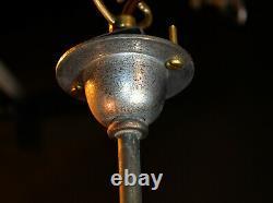 1940s large art deco School House Globe light pendent monk cap fitting lantern