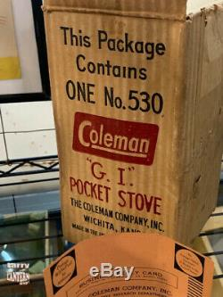 1947 Coleman 530 G. I. Pocket Stove Vintage Camping Looks NEW OLD STOCK