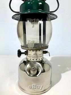 1949 Green Coleman Pyrex Vintage Rare Lantern 242B Globe Nickel with Canister
