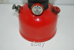 1952 Red COLEMAN 200A Black Band Lantern Single Mantle Vintage Camping Lantern