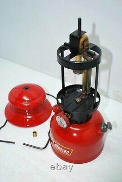 1953 Coleman Red 200A Black Band Lantern 4-53 Vintage Lantern Nice Condition