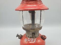1953 Vintage Coleman 200A Little Red Single Mantle Lamp Lantern 9-53