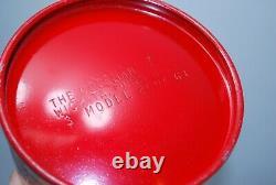 1963 Vintage Red Coleman 200A Lantern 3-63 Date Code 200A Single Mantle Lantern