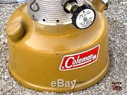 1972 Coleman 228F Gold Bond Lantern With Case and Accessories Vintage Camping