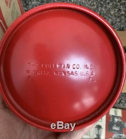 1974 Boxed NOS Vintage Coleman 200A195 Single Mantle Red Lantern Original Box