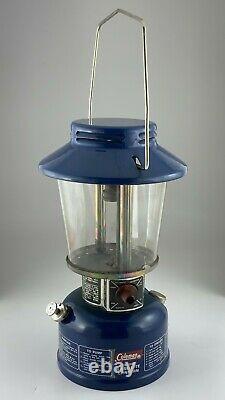 1976 Coleman Lamp Lantern Blue 621A Easi-Lite Deluxe Canada Globe 880 As Is U688