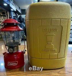 1978 Vintage Coleman 200A Red Lantern With Carry-Case