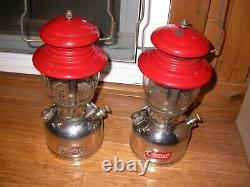 2 Vintage Coleman 200 Lanterns very nice