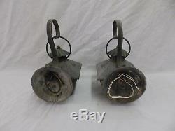2 Vtg Sconce Light Fixture Craftsmen Mission Porch Lantern Copper Brass 227-18P