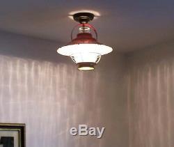 924 Vintage Farmhouse Lantern CEILING GLASS LIGHT fixture lamp farmhouse