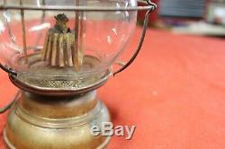 Antique Brass Holmes Booth & Haydens Skaters lantern Vintage Lamp Waterbury CT