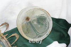 Antique Bronze Crystal glass Lantern pendant lamp chandelier caryatid head