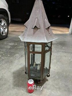 Antique Outdoor Gas Street Lantern Antique Gas Light Vintage Gas Light