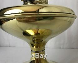 Antique Vtg Aladdin Style Brass Kerosene Parlor Lamp Oil Hurricane Lantern Light