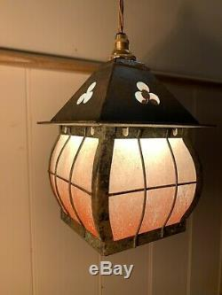 Arts & Crafts Lantern, Vintage Pendant Light