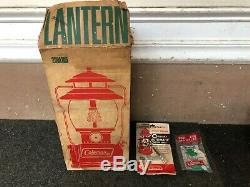 Boxed Vintage Coleman 200A195 Single Mantle Red Lantern Original Box