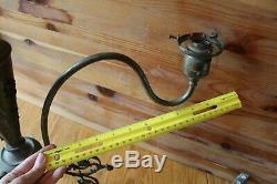 Brass Chandelier Vintage 3 Arm lantern lamp style electric torch relief design