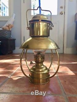 Brass Trawler Oil Lamp