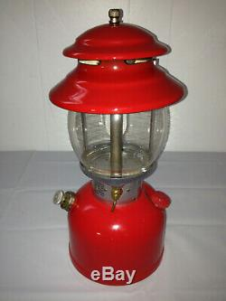 COLEMAN 200A195 Vintage Red Single-Mantle Floodlight Lantern withGlass, No Handle