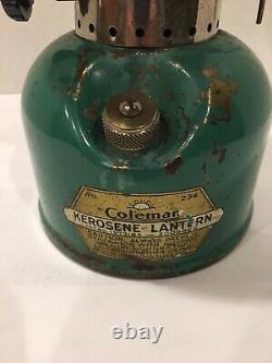 COLEMAN Kerosene LANTERN No. 234 SEAFOAM GREEN 11/35