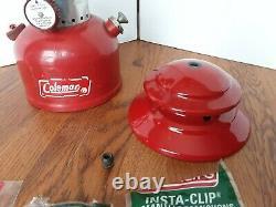 Clean Vintage 2/1968 Red Coleman Lantern 200A Single Mantle