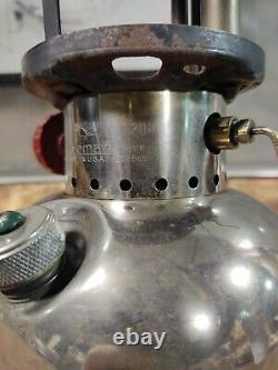 Coleman 1950 Model 200 Single Mantle Lantern 1st Year Dated 11/50 Tested Works