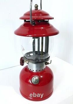 Coleman 200A Red 6/63 Single Mantle Vintage Gas Camping Lantern 60s Rare Vintage
