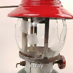 Coleman 200A Sunrise Christmas Lantern Single Mantle 8/1951 Globe Broken