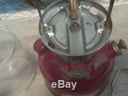 Coleman 200a Burgundy Lantern Restored 10 Of 61