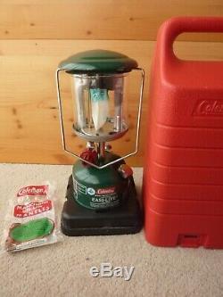 Coleman 222A Lantern & case made in Canada 1984 very nice original condition 222