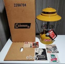 Coleman 228H Gold Bond Lantern Dated 73 with Original Box & Factory Paperwork! NR