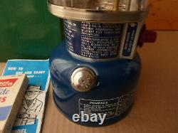 Coleman Blue 321 Lantern with steel case, #999 mantles, & funnel nice condition