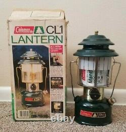 Coleman CL1 Lantern with Box NEW NEVER FIRED 04/1985 Model 286-700 Open Box