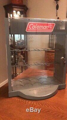 Coleman Display Cabinet Lamp Lantern Stove Vintage Antique