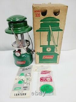 Coleman Lantern Green Model 335 Dated 12-71 December 1971 Box Near Mint Colex