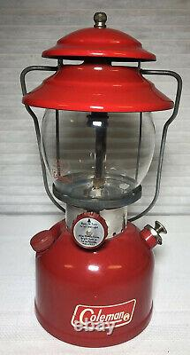 Coleman Model 200A Cherry Red Lantern Sunshine Of The Night