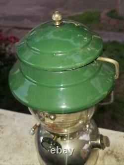 Coleman Model 202 Single Mantle Lantern 10/63 Given By Vp Of Coleman To Father