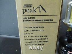 Coleman Peak 1 Small Single Mantle Lantern Model 3022-722 Nos