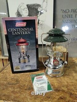 Coleman Unfired Centennial Lantern 200B NIB Dated 5/00 Brand New Unused with Box
