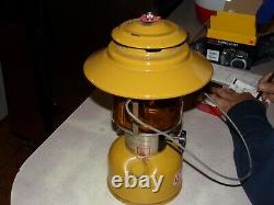 Coleman gold bond lantern withamber globe 228H