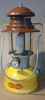 Dura Camp Lantern Hanging Two Mantle Vintage w Coleman Glass Globe Swanky Barn