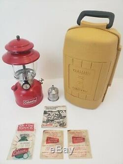 EXCELLENT Vintage Coleman Red Model 200A 195 Single Mantle Lantern 6/1980