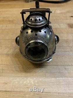 Extreme Rare Antique Vintage Bicycle Lamp Lantern Light Fire Ball