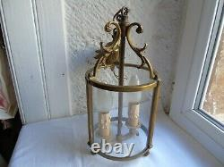 French lantern 2 light bronze brass classic designed vintage