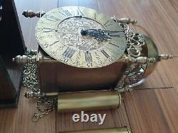 Lantern Wall Clock Hermle 1974 English Style Separate Wooden Mount Pendulum