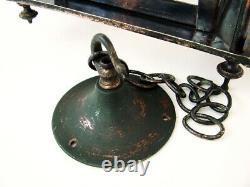 Large 23 1/2 + English Art Nouveau'glasgow Style' Coppered Brass Hall Lantern