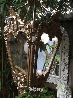 Large refurbished Vintage French Baroque Rococo Lantern Chandelier