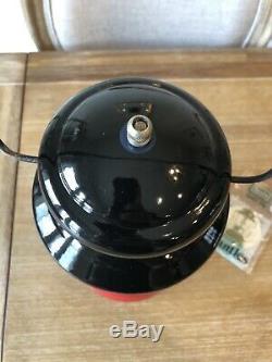 New Vintage Sears Coleman Lantern 1964 Red Black 476-74550 Single Mantle Unfired