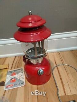 Nib Vintage Coleman 200a Lantern Nos Original Box 10 1969